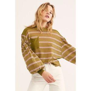 Free People Between The Lines Pullover Sweatshirt